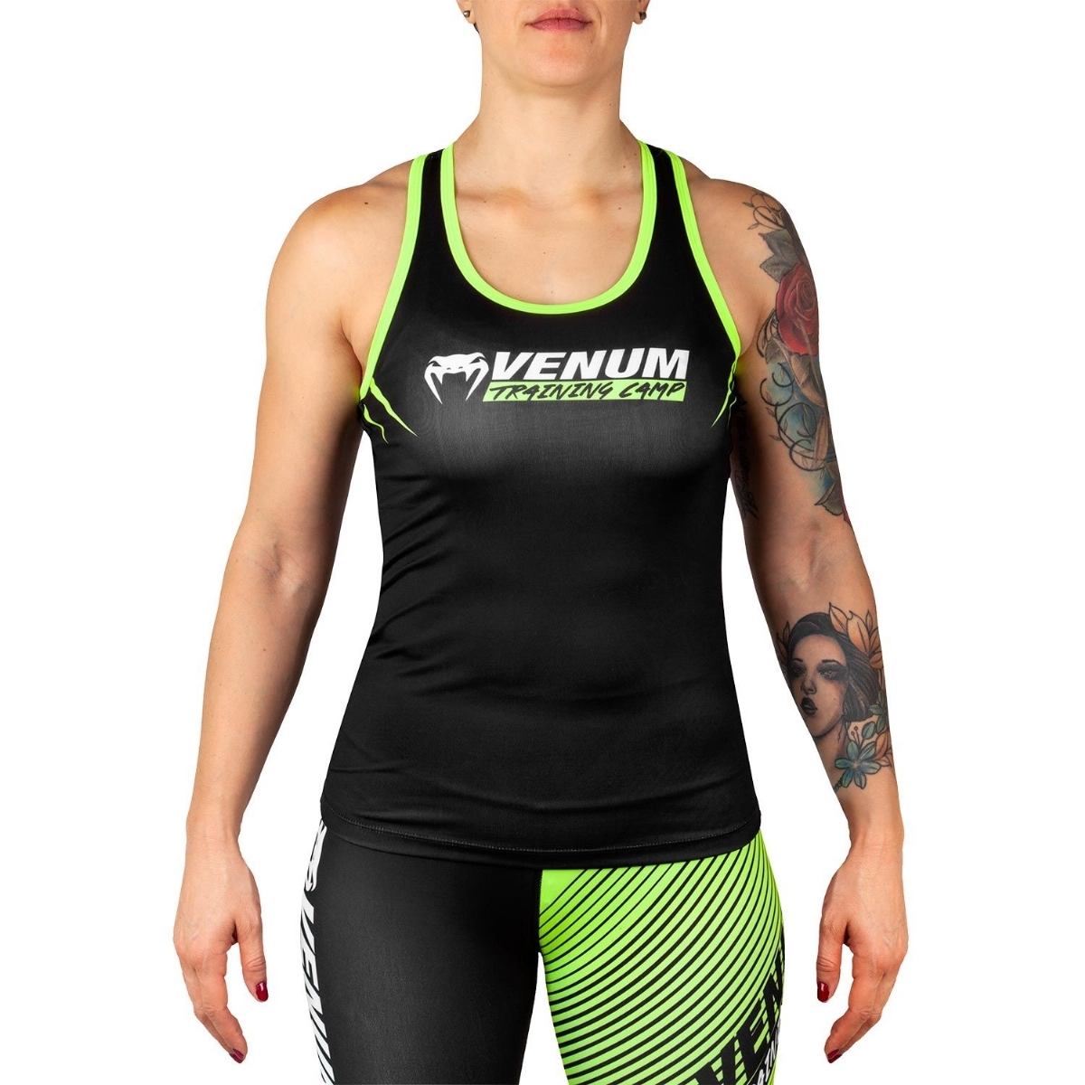 5e804cfe01aab Venum Venum Training Camp 2.0 Tank Top - Black Neo Yellow - For ...