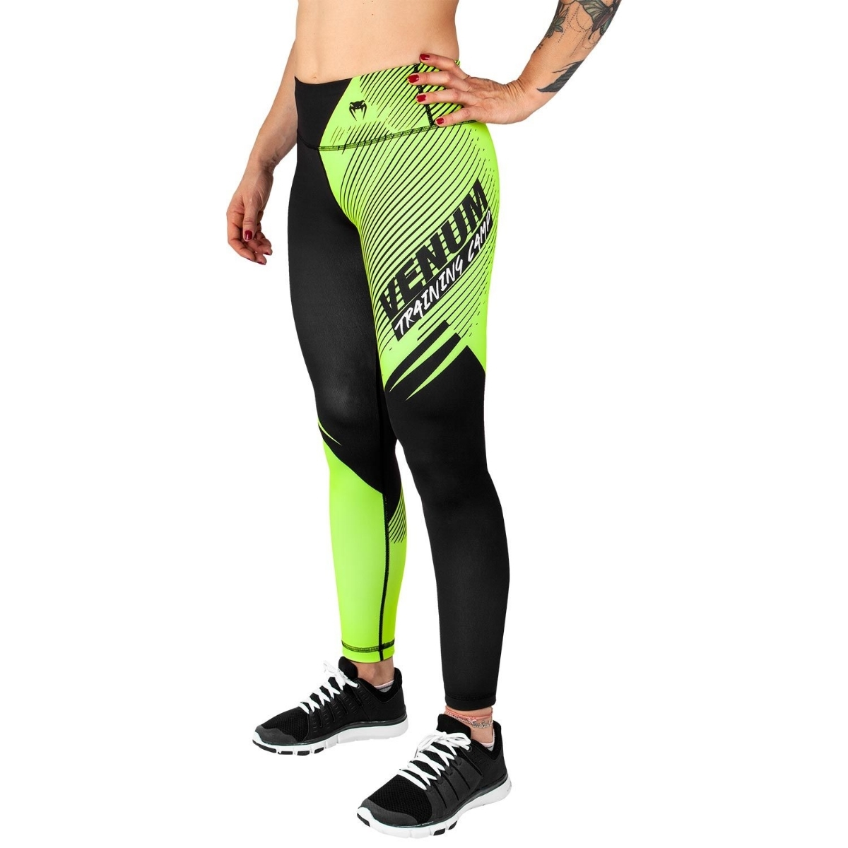 b2e699c280573 Venum Venum Training Camp 2.0 Leggings - Black Neo Yellow - For ...