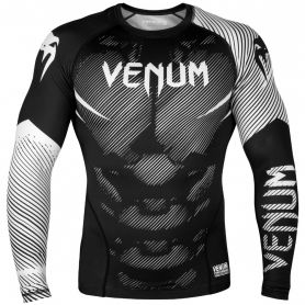 VE-03595-108-XL-Venum NoGi 2.0 Rashguard - Long Sleeves - Black/White