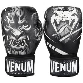 VE-03624-210-12-Venum Devil Boxing Gloves - White/Black