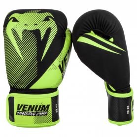 VE-03572-116-10OZ-Venum Training Camp 2.0 Boxing Gloves - Black/Neo Yellow