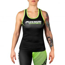 VE-03590-116-S-Venum Training Camp 2.0 Tank Top - Black/Neo Yellow - For Women
