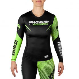 VE-03585-116-L-Venum Training Camp 2.0 Rashguard - Long Sleeves - Black/Neo Yellow - For Women