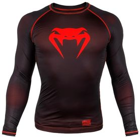 VE03135-100-XL-Venum Contender 3.0 Compression T-shirt - Long Sleeves - Black/Red