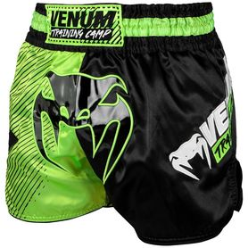 VE-03591-116 -L-Venum Training Camp Muay Thai Shorts - Black/Neo Yellow