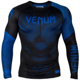 VE-03595-101-L-Venum NoGi 2.0 Rashguard - Long Sleeves - Black/Blue