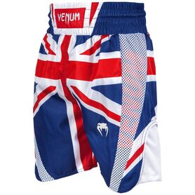 VE-03452-515-L-Venum Elite Boxing Shorts - UK - Blue/Red-White
