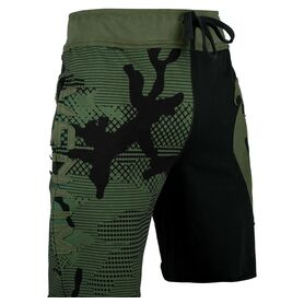VE-02601-200-XL-Venum  Assault  Cotton Shorts - Khaki/Black