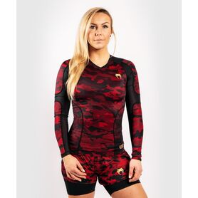 VE-03827-100-XL-Venum Defender Rashguard - Long Sleeves - Black/Red