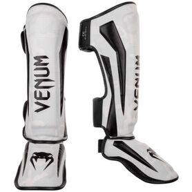 VE-1394-053-XL-Venum Elite Shin Guards - White/Camo