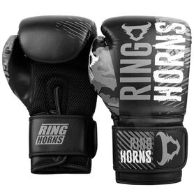 RH-00036-109-8-Ringhorns Charger Camo Boxing Gloves - Black/Grey