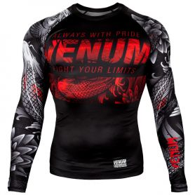VE-03537-108-S-Venum Koi 2.0 Rashguard - Long Sleeves - Black/White