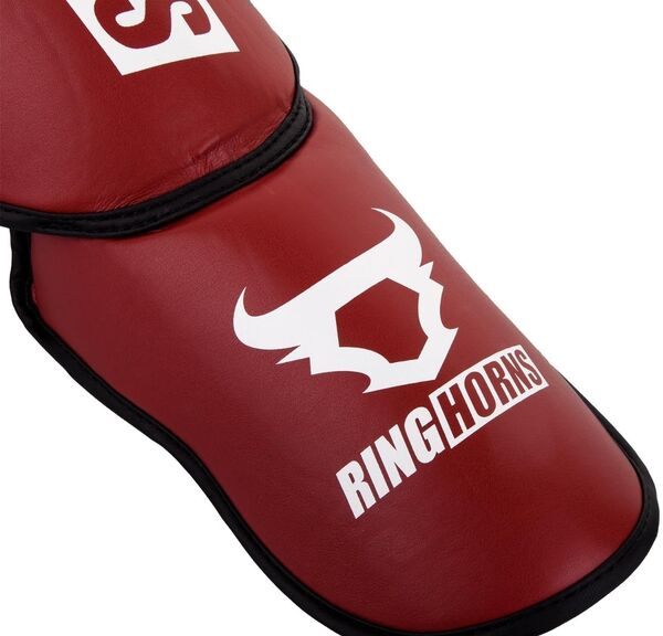 RH-00004-003-XL-Ringhorns Charger Shin Guards Insteps - Red