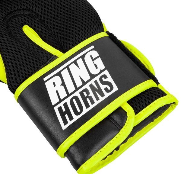 RH-00037-116-12-Ringhorns Charger MX Boxing Gloves - Black/Neo Yellow